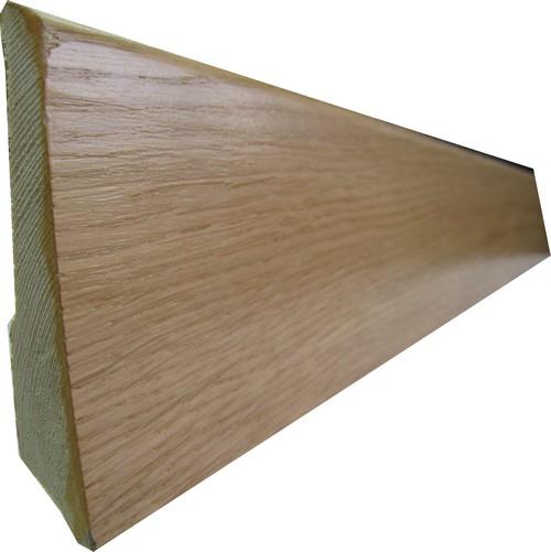 PLINTHE DOUBLE ESSENCE PLACAGE chêne VERNI 8cm (301/0086)