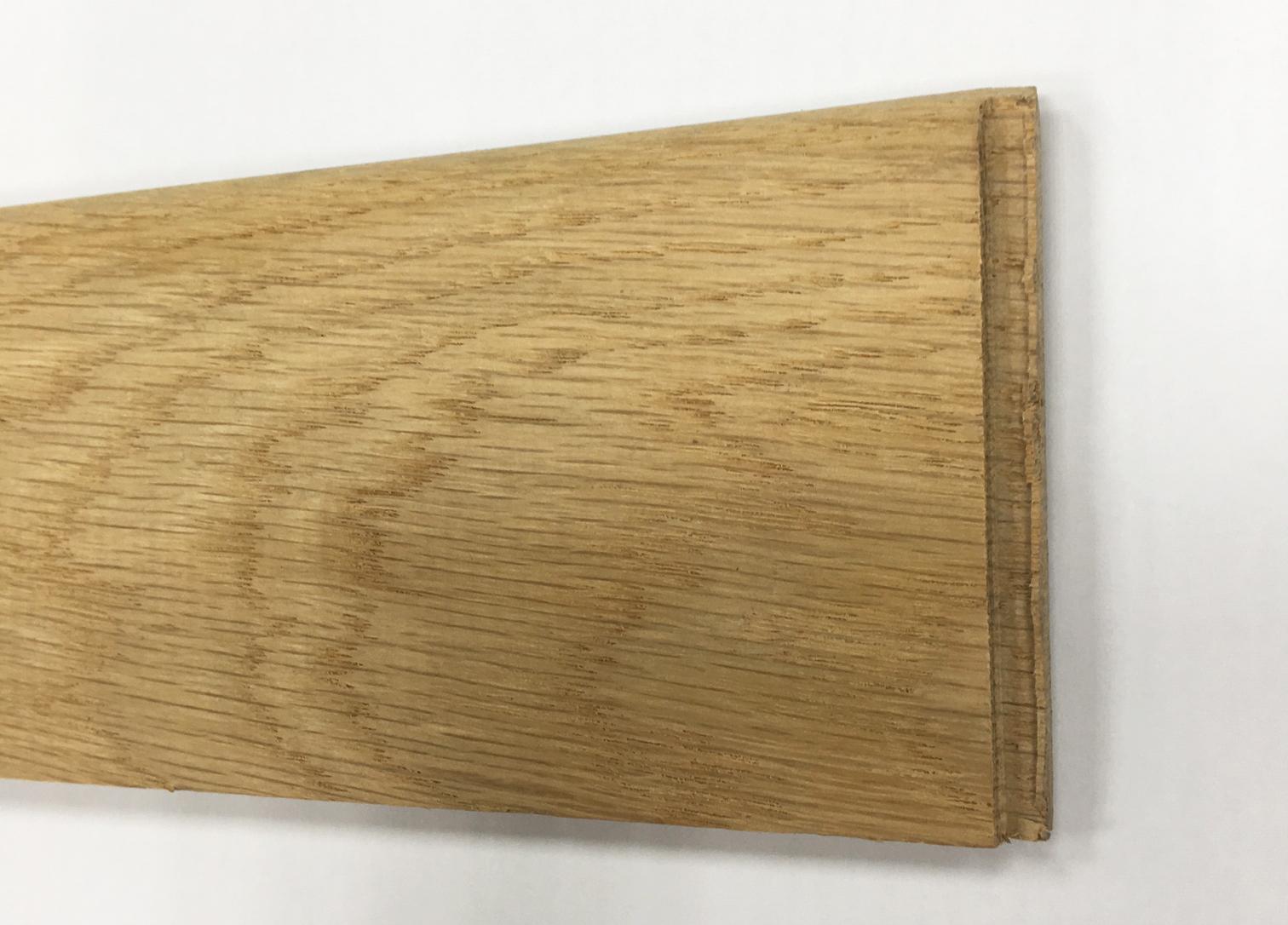 Plinthe chêne massif brut 70x10mm