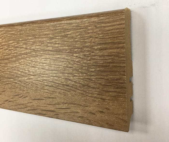 Plinthe de haute qualite - Plinthe mdf finition chene noyer marron glace 80x15 (1027)