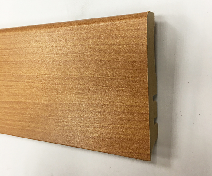 PLINTHE MDF FINITION MERISIER 80X15 (0615) - Parkett.fr