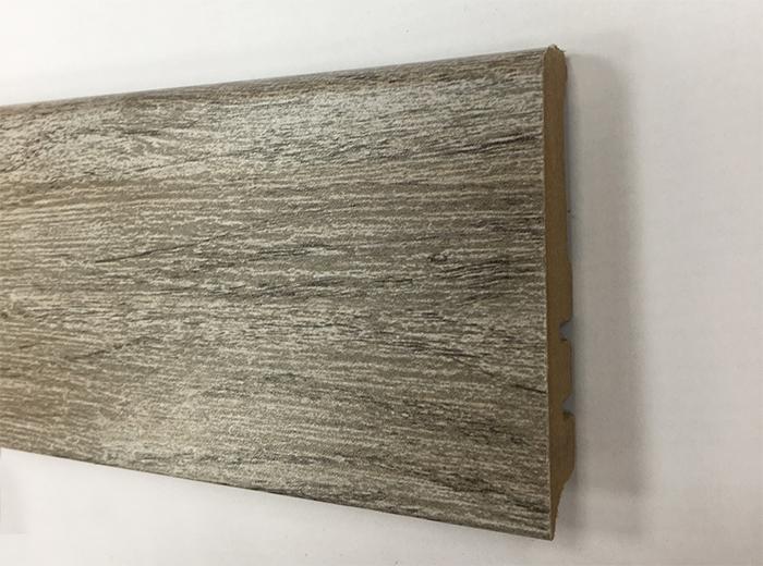 Plinthe de haute qualite - Plinthe mdf finition chene gris titane argent 80x15 (1040)