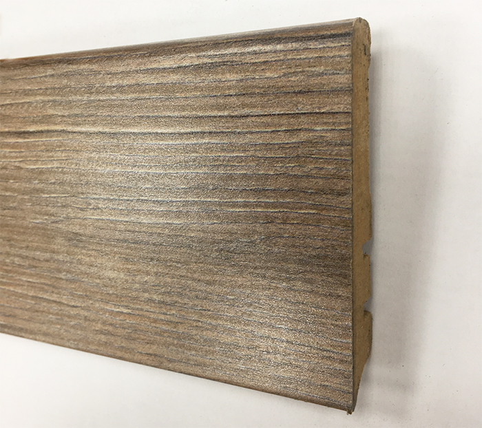 Plinthe de haute qualite - Plinthe mdf finition chene grise cappucino 80x15 (1044)