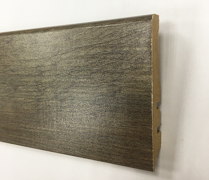 Plinthe de haute qualite - Plinthe mdf finition chene fonce reglisse 80x15 (1142)