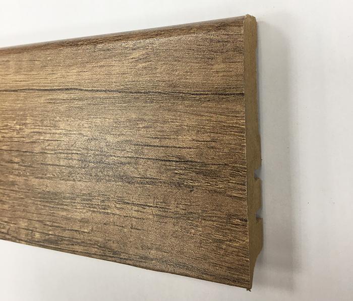 Plinthe de haute qualite - Plinthe mdf finition chene cairo choco 80x15 (1045)