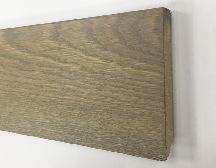 PLINTHE chêne MASSIF huilé ASSORTIE GRIS BELGE 90x15x2400