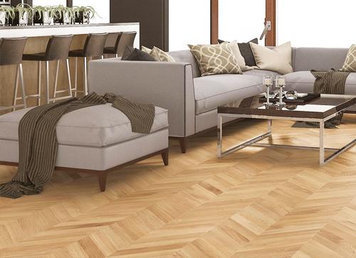 POINT DE HONGRIE CHÊNE MASSIF VERNI RUSTIQUE ELEGANCE 70X14X440mm - Certifié FSC 100 % - Parkett.fr