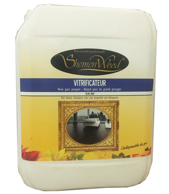 VITRIFICATEUR SHEMENWOOD GRAND TRAFIC SEMI MAT 5L + DURCISSEUR 0.5L