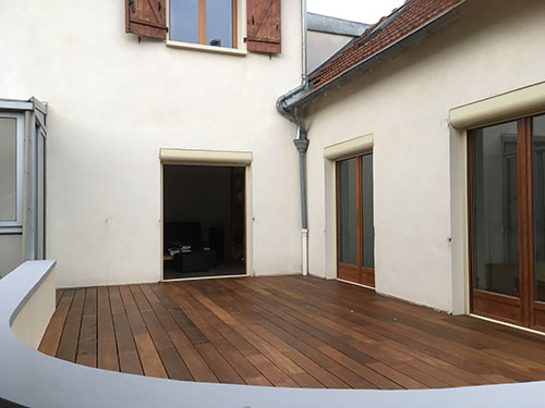 Lame de terrasse ipe brut deck clipsable 1 face  lisse  145*21*800 a 1100