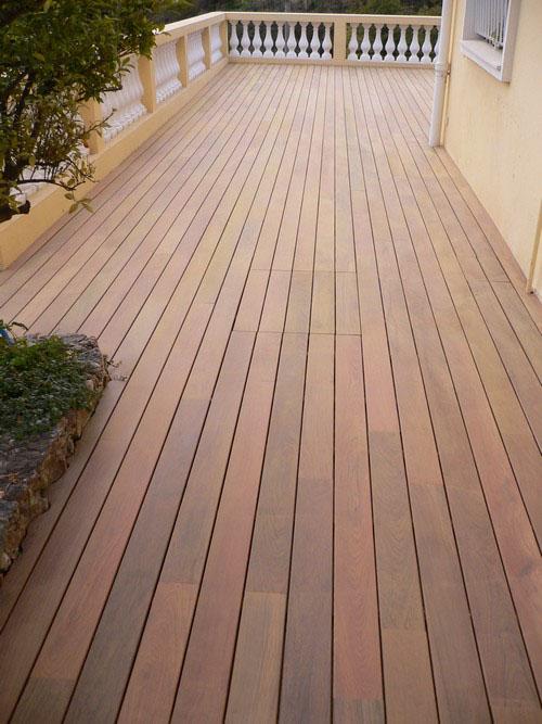 Lames de terrasse bois massif - Lame de terrasse ipe brut deck clipsable 1 face lisse 140x19x500 à 1700mm