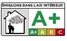 étiquettes « Émissions dans l'air intérieur COV » la catégorie A+