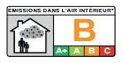 étiquettes « Émissions dans l'air intérieur COV » la catégorie B
