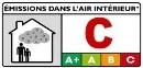 étiquettes « Émissions dans l'air intérieur COV » la catégorie C, peut être toxique