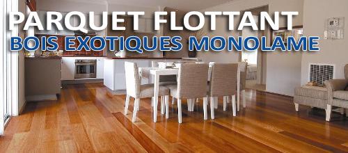 simple excellent parquet flottant en bois exotiques monolame with parquet flottant bleu with. Black Bedroom Furniture Sets. Home Design Ideas