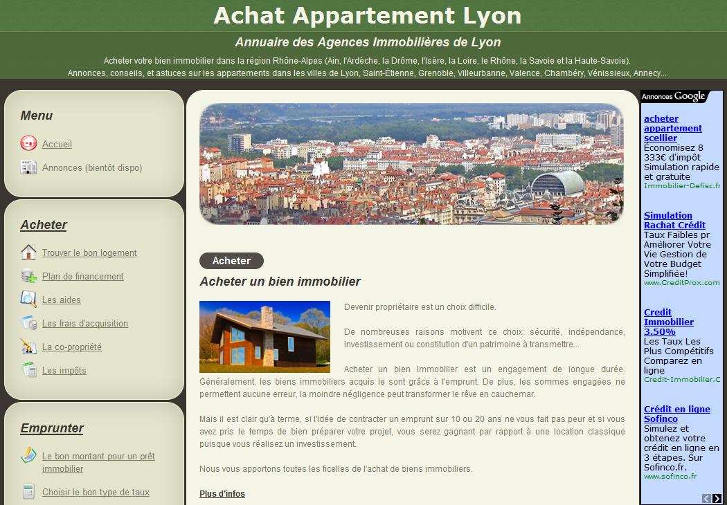 Les sites partenaires de for Achat maison lyon
