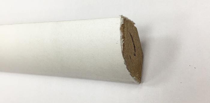 Quart de rond parquet - 1/4 de rond blanc 17x17 dinachoc q171 (6167) - certifié pefc 70%