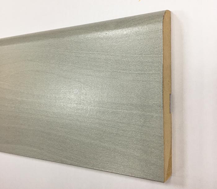 Plinthe de haute qualite - Plinthe mdf finition gris 8cm lot 80x12