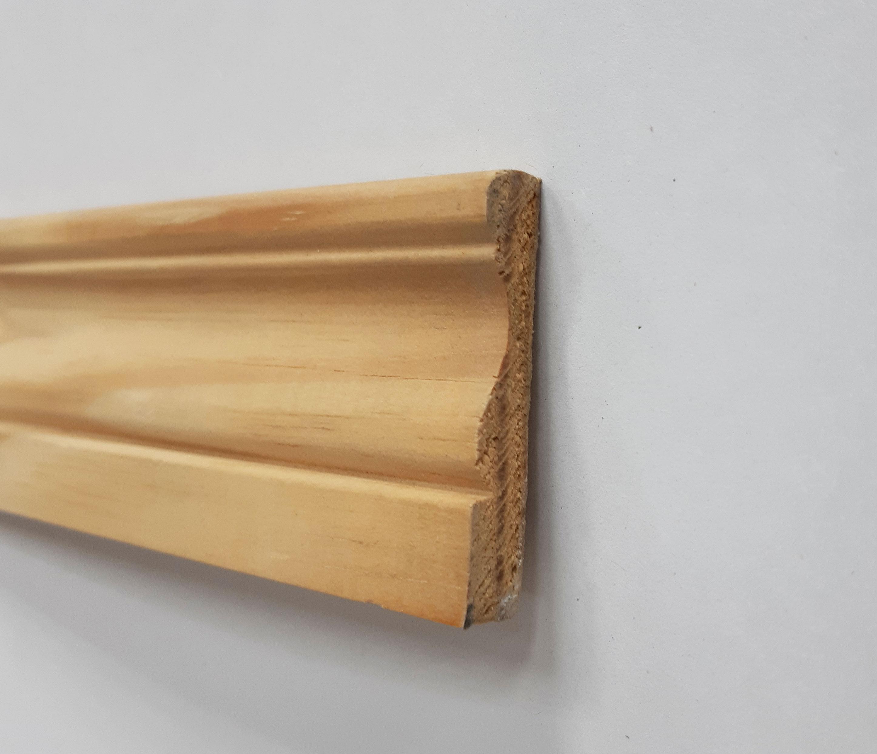 Plinthe de haute qualite - Chambranle a doucine mouluree en pin des landes brut 9x48x2400