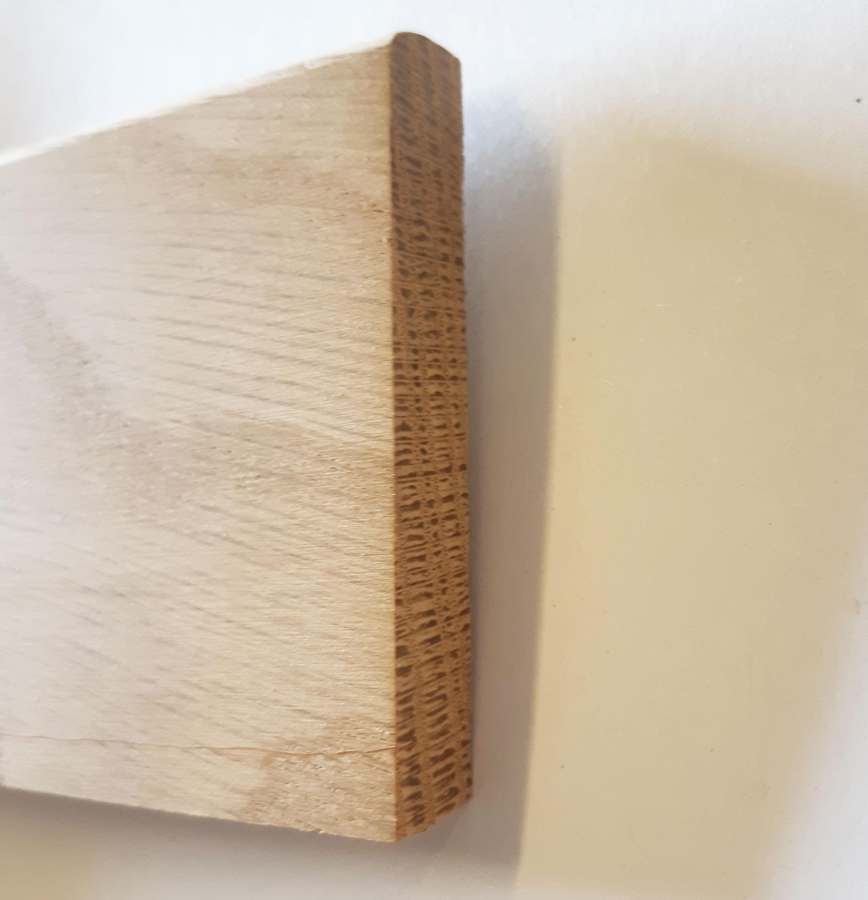 Plinthe de haute qualite - Plinthe chêne massif brut 68x12x2150 mm