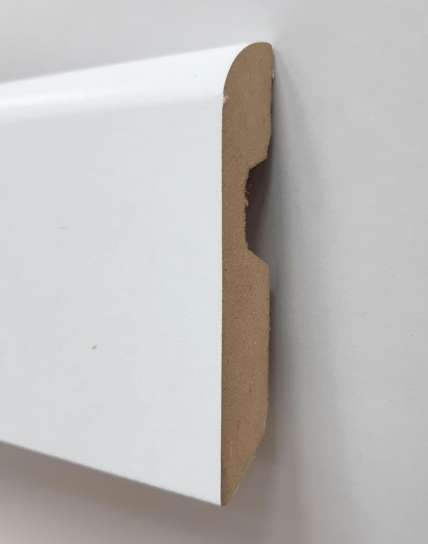 Plinthe de haute qualite - Plinthe mdf blanche bord arrondi 80x14