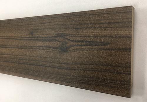 Plinthe de haute qualite - Plinthe mdf noyer 80x15x2500 dinachoc bord carre