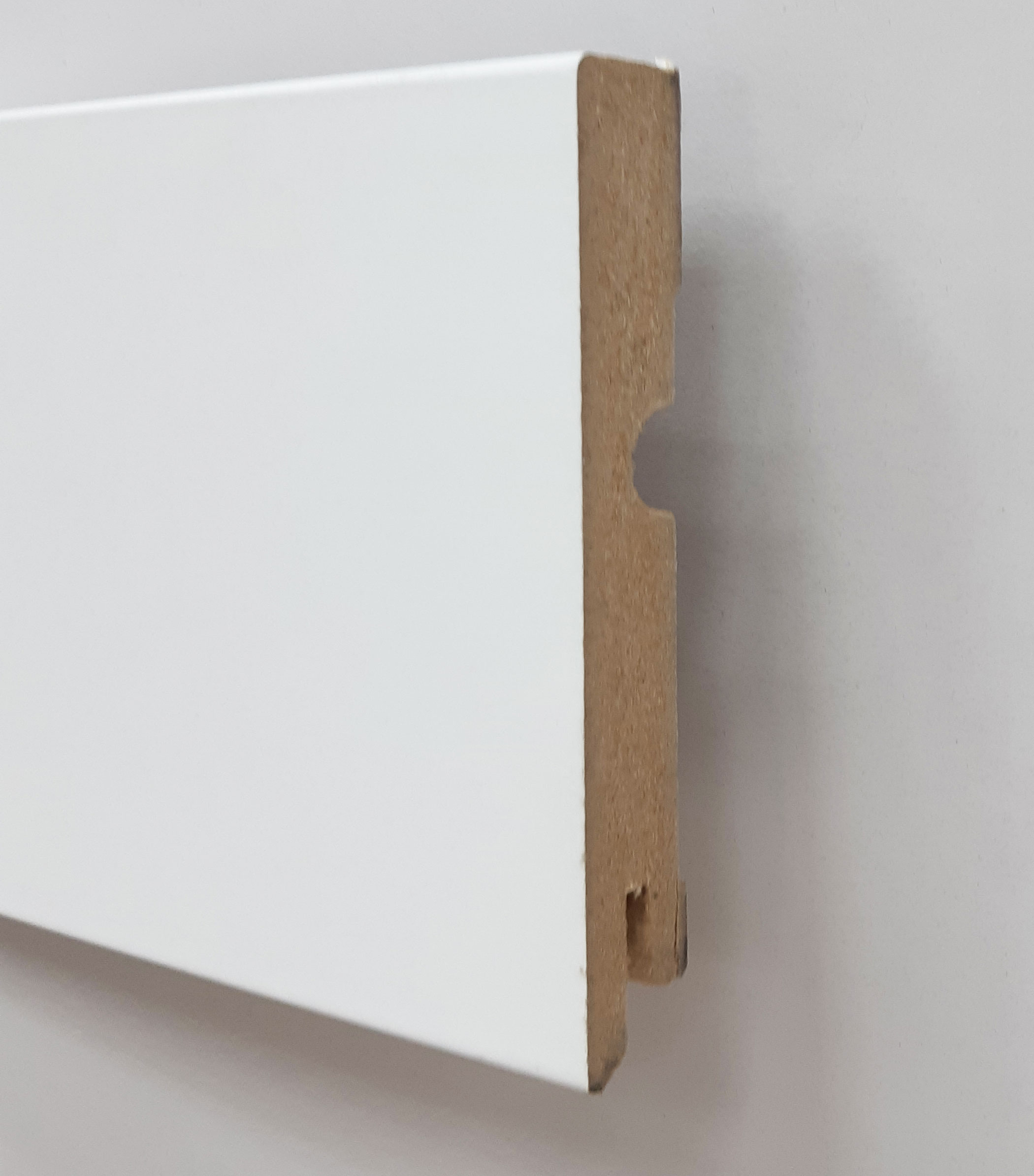 Plinthe de haute qualite - Plinthe mdf blanc 95x15 dinachoc bords carres - certifié pefc 70%