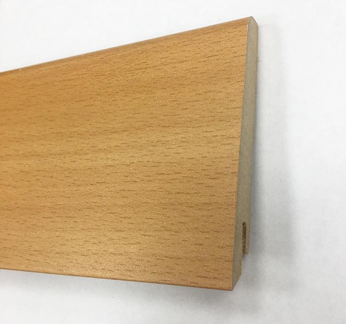 Plinthe de haute qualite - Plinthe mdf hetre 80x15 dinachoc p805 - certifié pefc 70%