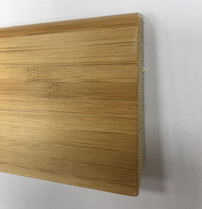 Plinthe de haute qualite - Plinthe double essence bambou caramel verni 8cm 331 +