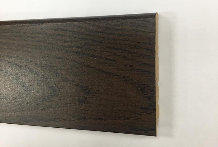 Plinthe de haute qualite - Plinthe mdf finition wenge 80x15 (1001)
