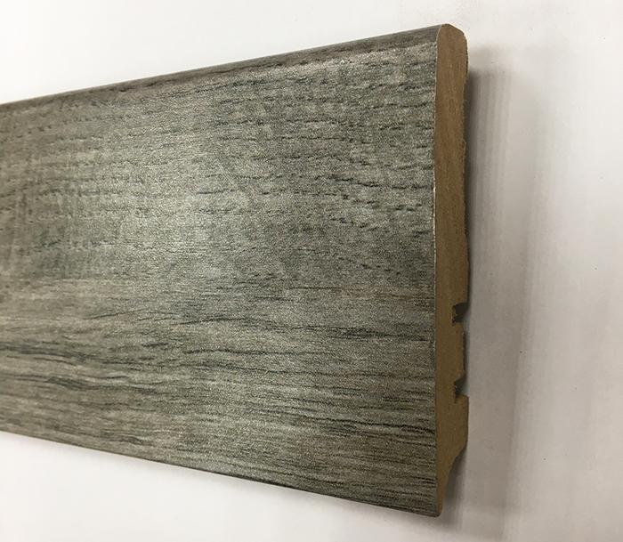 Plinthe de haute qualite - Plinthe mdf finition chene gris fonce 80x15 (1141)