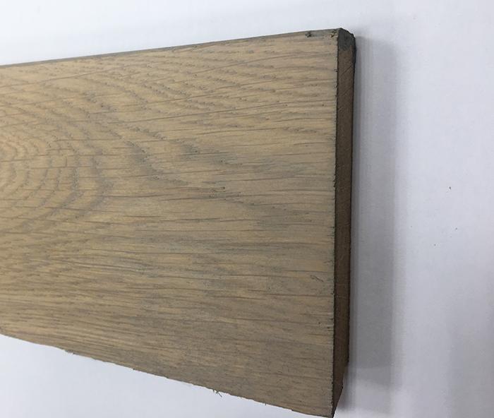 Plinthe de haute qualite - Plinthe chêne massif huilé assortie gris light 90x15x2400 suede