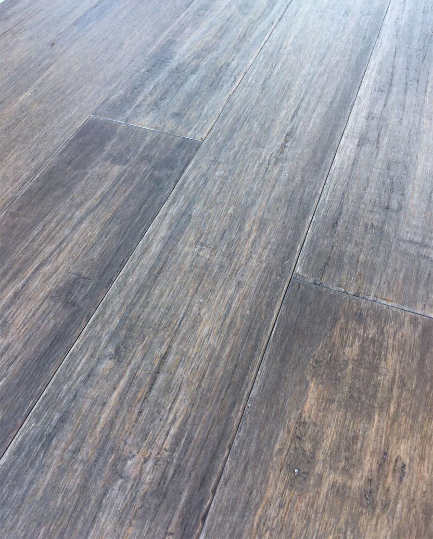Parquet bambou massif - Bambou massif verni strong vieilli gris dark 96x12x1850mm
