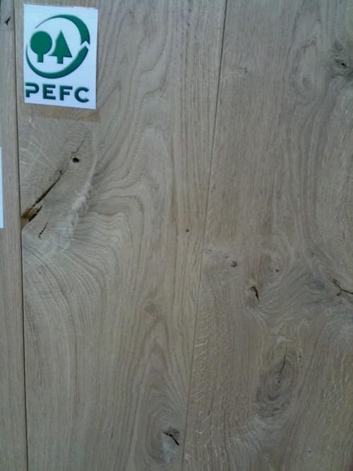 Lots fin de série parquet - Chêne massif brut alabama rustique avec noeuds 130x21 go-4 - 700 a 2400 mm lot de 24.35 m2 uniquement a pantin