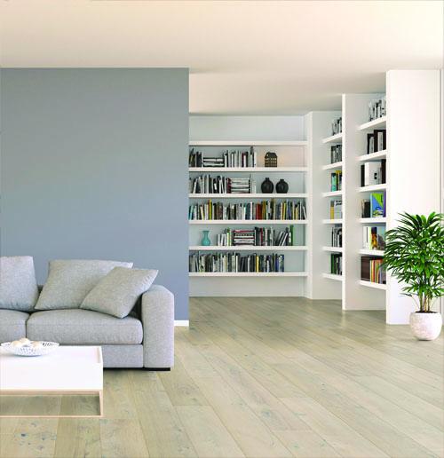 Lots fin de série parquet - Chêne huilé cotton white 115x13x1000 - lot de 34.50m²<br />