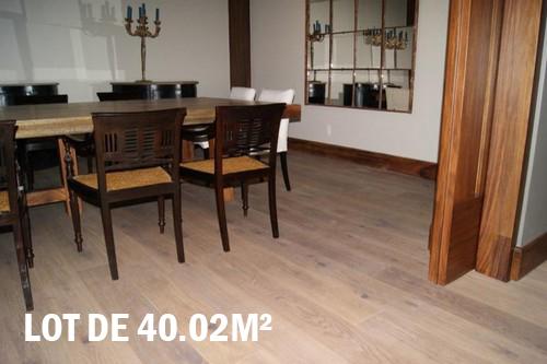 Lots fin de série parquet - Chêne multiply rustique huilé himalayas 190x22x6mm de bois noble - lot de 40.02m²