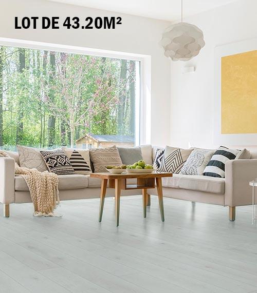 Lots fin de série parquet - Chêne multiply rustique selection gris nacre 180x21x2400mm 6 mm - lot de 21.60 m²
