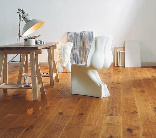 Parquet flottant chêne huilé - Chêne contrecolle rustique huilé brossé alexandrie lame xl - 190x22x1820 couche d'usure de 6mm de chêne<br />