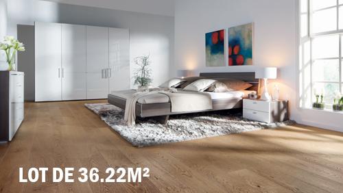 Parquet flottant chêne verni - Chêne contrecollé verni brossé rustique marron fonce go 4 click v 1820x190x14.2 lot de 36.22m²