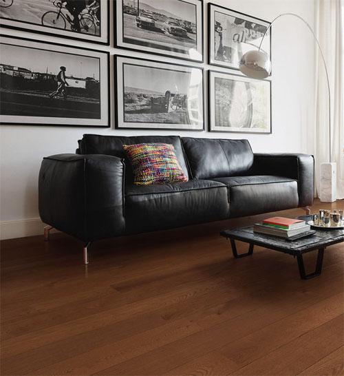 Parquet flottant chêne verni - Chene contrecolle rustique verni langkawi martele go-4 127x22x1820mm