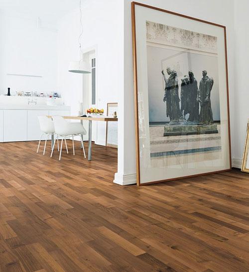 Parquet flottant bois exotique verni - Baton rompu contrecolle decoart verni robinier ambre authentique 70x10 l490<br /> (compatible avec sol rafraîchissant) - certifié pefc 70%