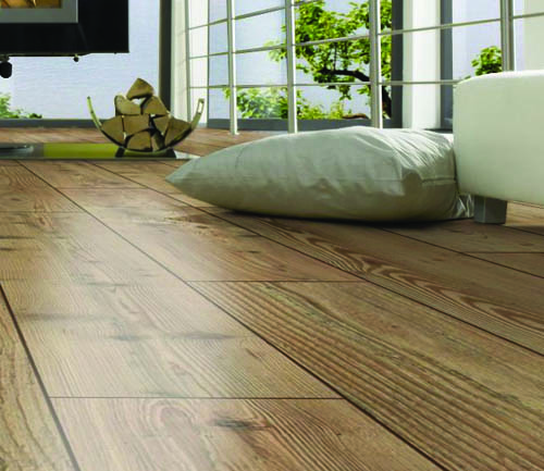 PARQUET SOL STRATIFIE DECOART - PIN NATUREL - GAMME SEVILLE- 1380mmX193mmX8mm - Certifié FSC Mix Credit