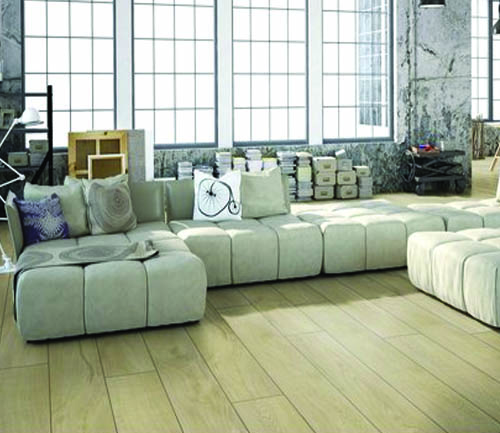 CHENE STRATIFIE DECOART MAGNUM SABLE  - GAMME NEW YORK PLUS- 1845mmX244mmX10mm - Certifié FSC Mix Credit