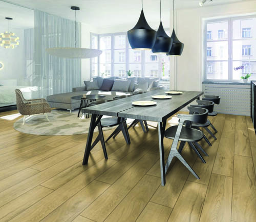 Parquet stratifié décoart new-york plus - Chene stratifie decoart magnum clair  - gamme new york plus- 1845mmx244mmx10mm - certifié fsc mix credit