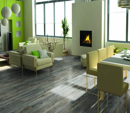 Parquet stratifié décoart new-york plus - Chene stratifie decoart highland titane - gamme new york plus- 1845mmx244mmx10mm - certifié fsc mix credit