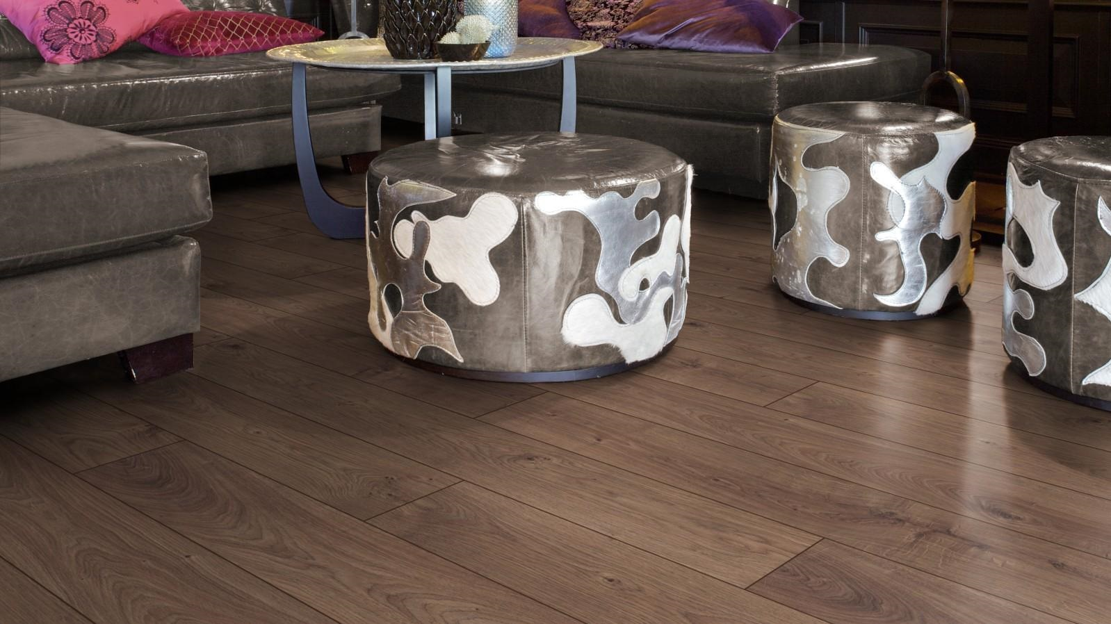 PARQUET SOL STRATIFIE DECOART  CHENE ATLAS CAFE STRATIFIE - GAMME MIAMI - 1375mmX188mmX12mm - Certifié FSC Mix Credit