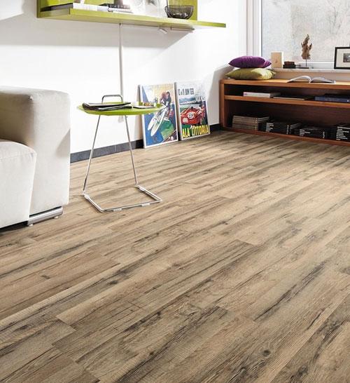 Parquet stratifié décor bois - Sol stratifie decoart chene graphite 2 frises - asbana