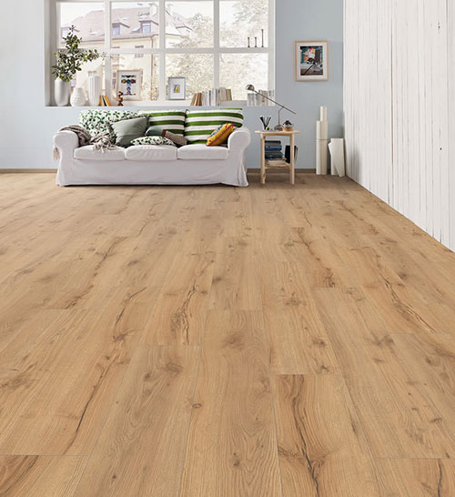 Parquet stratifié décoart syracuse campus 4v - Sol stratifie decoart chene alpin nature authentic mat planche xl - syracuse