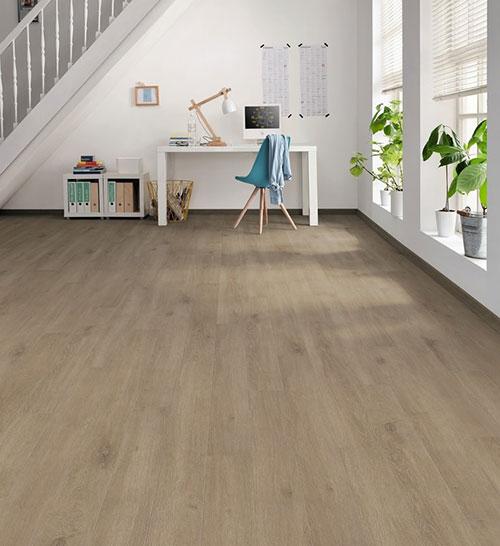 Parquet stratifié bergame loft décoart - Sol stratifie decoart chêne veneto crema authentic mat planche m - gamme bergame