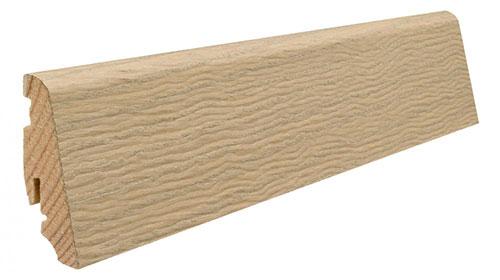 Plinthe de haute qualite - Plinthe bois massif plaque blanc clair universal 58x19x2200mm a enclipser