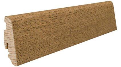 Plinthe de haute qualite - Plinthe bois massif plaque brun velours universal 58x19x2200mm a enclipser