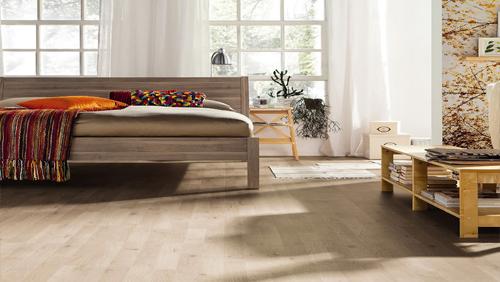 Parquet stratifié décor bois - Chêne polaire authentique mat 3 frises (tritty75) sol stratifié